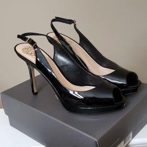 Black patent heels , Vince Camuto